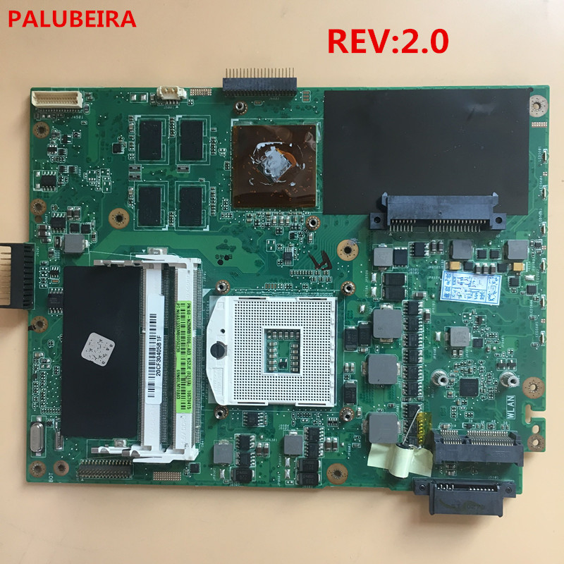 PALUBEIRA Free Shipping For ASUS K52JE A52J K52J X52J K52JB K52JU K52JT K52JR Loptop Motherboard K52JR REV 2.0 HM55 512M