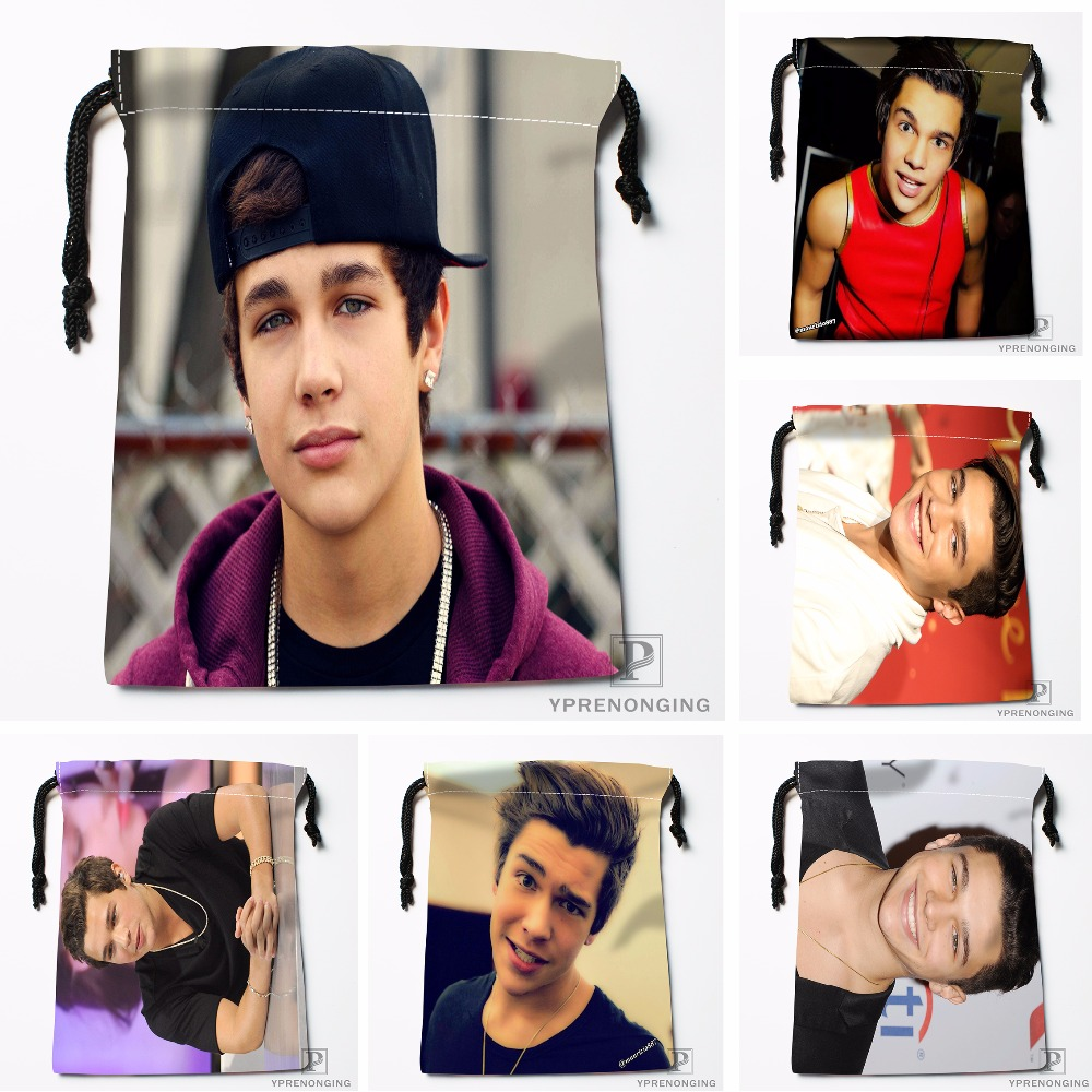 Custom Austin Mahone Drawstring Bags Travel Storage Mini Pouch Swim Hiking Toy Bag Size 18x22cm#0412-03-03