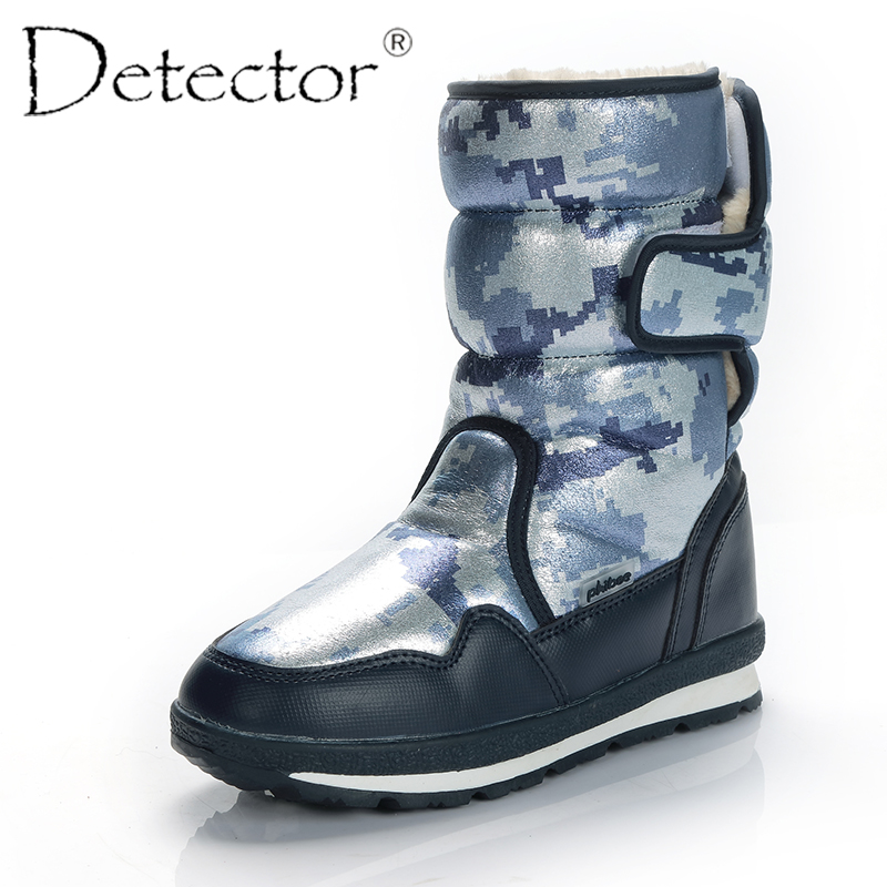 Detector Women Waterproof Anti-Slip Snow Boots Outdoor Thickening Thermal Boots Warm Fur Shoes Ladies Winter Boots Female