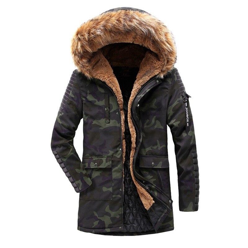 100% Kwaliteit Faux Fur Hoodie Jassen Mannen Winter Jassen Katoen Gevoerde Medium Lange Warme Parka Mannelijke Winddicht Bovenkleding Streetwear Man Overjas Vloeiende Circulatie En Pijn Stoppen