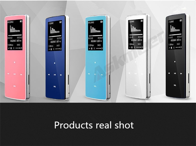 ONN W6 Rechargeable 8GB Bluetooth MP3 Player Mini Sport Mp3 HIFI Lossless Music Media Audio Player with 1.8 TFT Screen Fm Radio (16)
