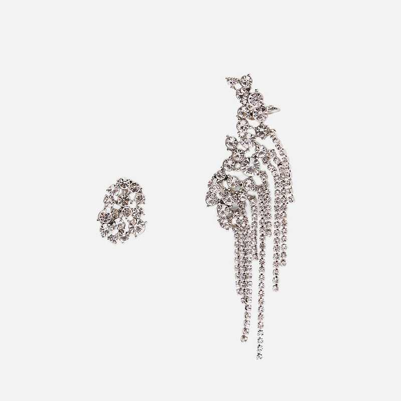 JUJIA za Crystal Tassel Drop Earrings For Women Jewelry Accessories  Luxury  Statement Dangle Earrings Wholesale 2019