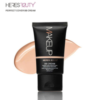 Brand HERES B2UTY Strong Isolation Perfect Cover BB Cream SPF30 Pa+++ Nude Glow Skin Whitening Compact  Foundation Makeup 35g