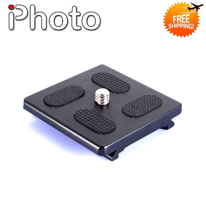 QR-1 50*50mm Universal Quick Release Plate for KJ-1 KJ-0 KS-1 KS-0 KB-1 KB-0 1/4 SLR Camera DV Tripod Monopod Head Accessories