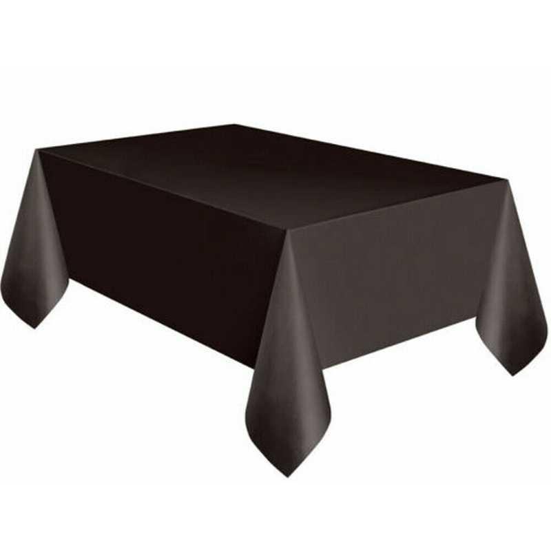 11 צבעים מצויד פוליאסטר מפת שולחן מלבני שולחן כיסוי חתונה משתה סחר להראות 137x183cm