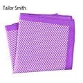 Sastre Smith 100% Pañuelo Cuadrado de Seda Impresa Rayas Flaco Rayas Nuevo Lujo Para Hombre de Negocios Formal Impreso Pañuelo