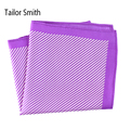 Tailor Smith 100% Silk Printed Striped Handkerchief Pocket Square Skinny Stripes New Luxury Business Mens Formal Printed Hanky