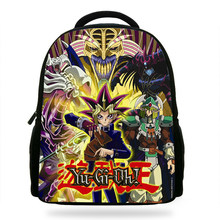 14inch Mochila boys Infantil Bag for Girls School Bag Gift kids Yu-Gi-Oh Backpack Cartoon Rucksack(China)