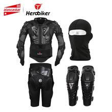 HEROBIKER Motorcycle Amor Body Protection Motocross Protective Gear Racing Full Body Armor+ Gears Short Pants+ KneePad herobiker motorcycle protection motorcycle armor moto protective gear motocross armor racing full body protector jacket knee pad