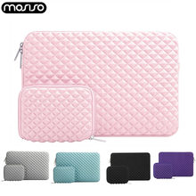 Funda para portátil de Lycra repelente al agua MOSISO diamante para Macbook Pro 13 pulgadas Air 11 12 13 15 manga superficie de Microsoft(China)