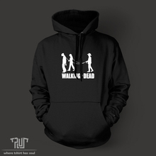 walking the dead version 2 men unisex pullover hoodie 10.3 oz weight organic cotton fleece quality sweatershirt Free Shipping