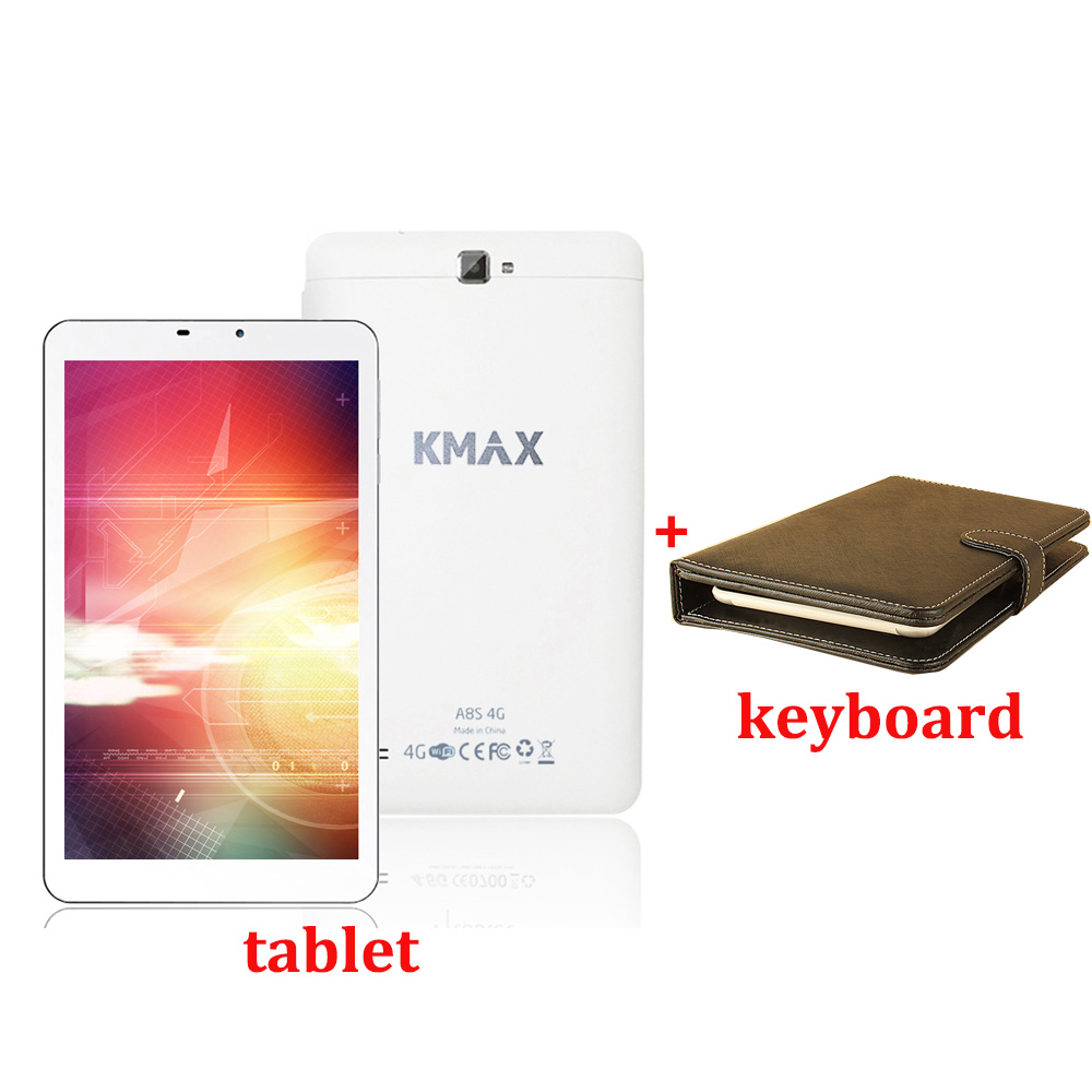 KMAX 8 inch Tablet PC Android 5.1 Internet Quad Core 4G Phone Call Tablets PC 2GB 16GB GPS Wifi Bluetooth with Tablet Case original 8 inch lenovo yoga tablet 3 yt3 850f qualcomm apq8009 quad core 2gb 16gb android 5 1 tablet pc 8mp rotation camera