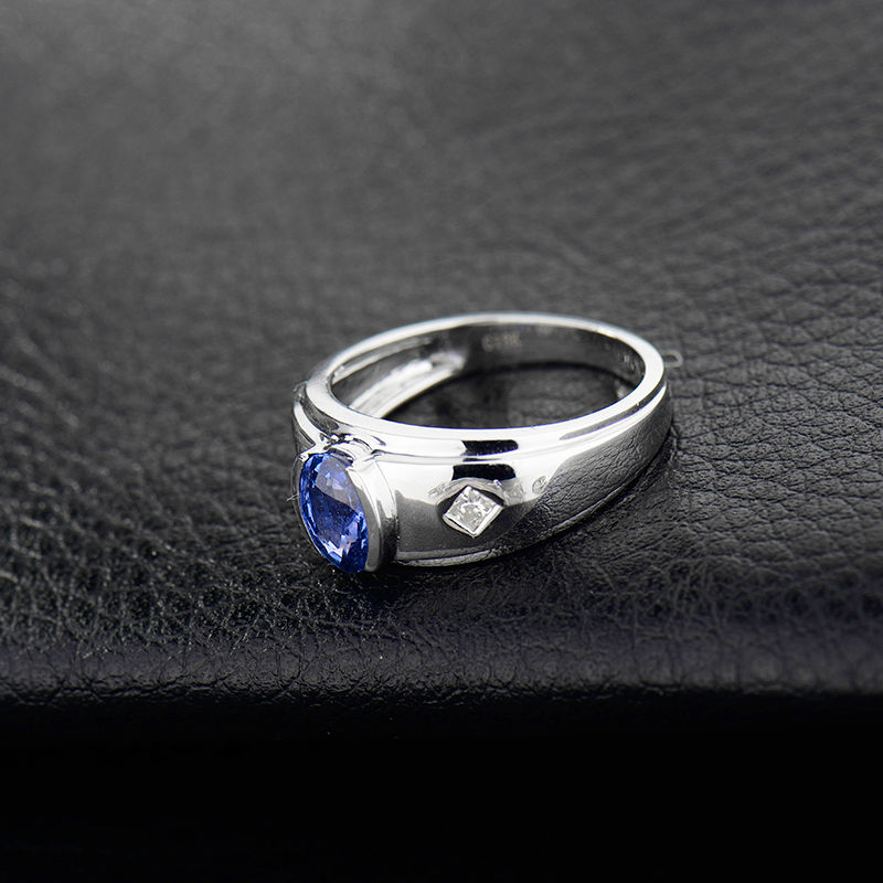 on for in design sapphire diamond rings jewellery men mens husband gold s ring from real item blue white genuine accessories natural gemstone jewelry
