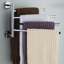 4 שכבות נירוסטה מגבת מתלה מסתובב מגדל בר קיר רכוב מגדל מחזיק מקלחת לחדר רחצה ארגונית חומרה