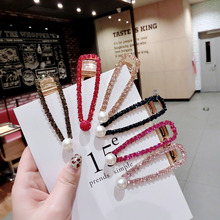 2019 New Fashion Red Blue Pearl Zircon Water Drop Hair Pins Clips For Women Girls Birthday Party Wedding Gifts Jewelry Wholesale