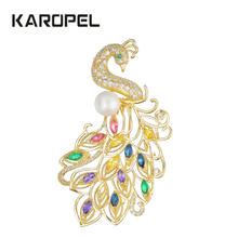 Luxury Cubic Zirconia Crystal Elegant Peacock Brooch Scarf Pin Women Jewelry Dress Accessories Birthday Gift