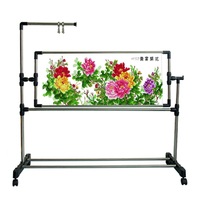 Adjustable Stainless steel &Plastic Stand Desktop Embroidery Frame Cross Stitch Sewing Craft Tool Chinese Cross Stitch Kit