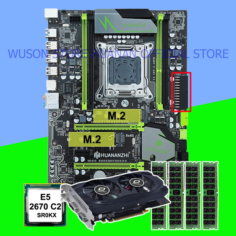 Buy discount mobo HUANANZHI X79 Pro motherboard with dual M.2 slot CPU <font><b>Xeon</b></font> E5 <font><b>2670</b></font> 2.6GHz RAM 32G(4*8G) video card GTX750Ti 2G image