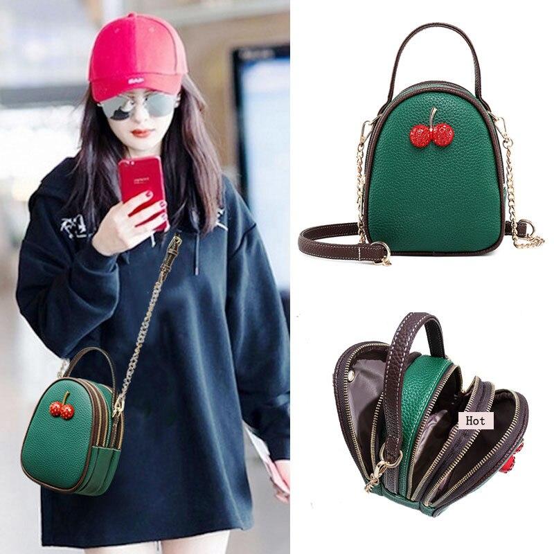 Mini Bag For Women 2019 Personality Red Cherries Beach Bag Summer Fashion Shoulder Bag Chain Messenger Tote Bag bolso mujer