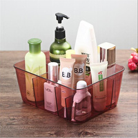 New Multi Grid Clear Acrylic Akeup Organizer Jewelry Cosmetic Storage Box Empty Cosmetic Containers Home Decor