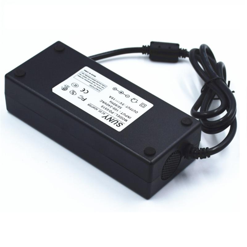 100-240Vac input ,5V 15A power adapter ,5.5*2.5 ,5.5*2.1 port CE FCC 75W transformer for WS2812B LPD8806 WS2811 2801 LED Strip