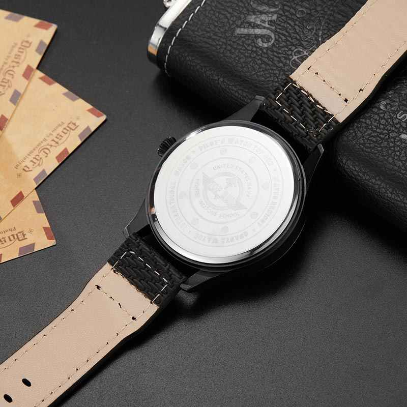 Hecho genial motor de avión forma negro relojes para hombre marca de lujo reloj militar para hombre Deporte reloj de pulsera reloj Masculino