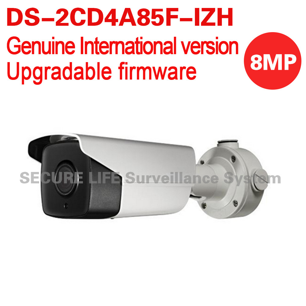 цены  Free shipping English version DS-2CD4A85F-IZH 4K smart bullet cctv camera POE Motorized lens with heater, smart focus 50m IR