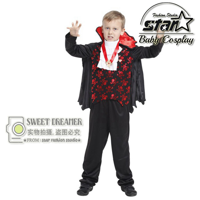 Earl Of Vampire Costume Children Halloween Classic Cosplay Clothing Boys Carnival Performance Stag Costumes Suit