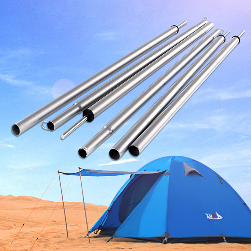 115cm*2 Tent Pole Outdoor Camping Awning Rod Stand Pole Tents Extending Door Iron Frame Canopy Hallway Rod Tent Accessories