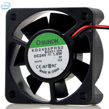 Original KD2405PHS2 Computer Blower Double Ball Cooling Fan DC 24V 1.9W 0.08A 5015 50*50*15mm 2 Wires