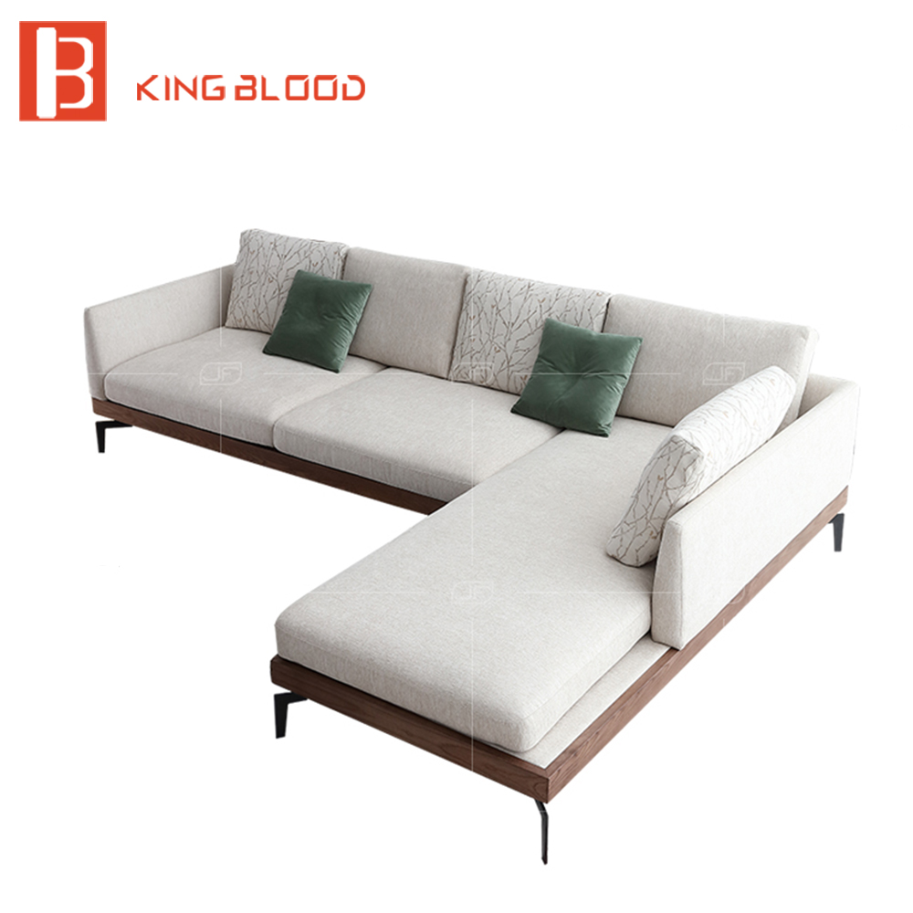 Us 1370 0 3 Seater L Shape Modern Wooden Designs Fabric Sofa Chair With Dimensions Furnitures In Living Room Sofas From Furniture On Aliexpress