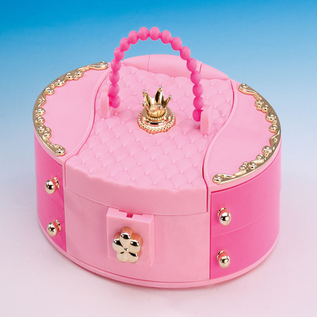 Charmant Dollhouse Furniture Dressing Case Treasure Jewelry Storage Box Comb  Lipstick Necklace Cosmetic Hairpin Set For Barbie
