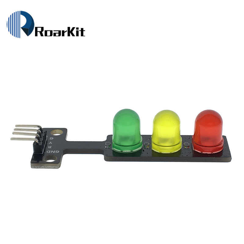 Mini 5V Traffic Light LED Display Module for Arduino Red Yellow Green 5mm LED RGB -Traffic Light for Traffic Light System Model