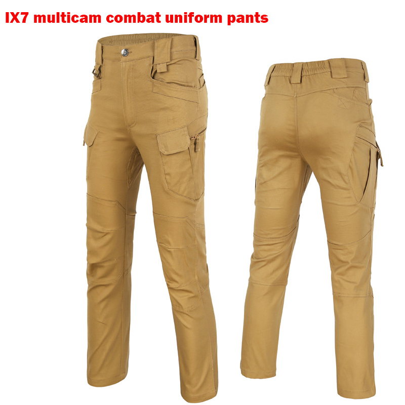 City Leisure IX7Tactical Cargo Outdoor Pants Men Combat SWAT Army Training Military Pants Cotton Hunting Outdoors Sport Trousers