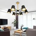 Moderne Holz Anhänger Lichter Aluminium Bunte Anhänger Lampen Für Restaurant/Bar Beleuchtung leuchte Hause Dekoration lamparas-in Pendelleuchten aus Licht & Beleuchtung bei