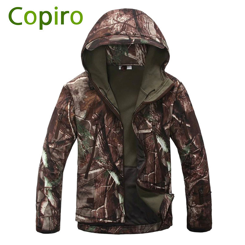 Copiro Outdoor Windbreaker Softshell Jacket Hiking Tactical Fleece Waterproof Windproof Fishing Clothing Hunting Clothes Men outdoor breathable softshell jacket men s black tactical hunting waterproof windproof jacket soft shell with fleece lining