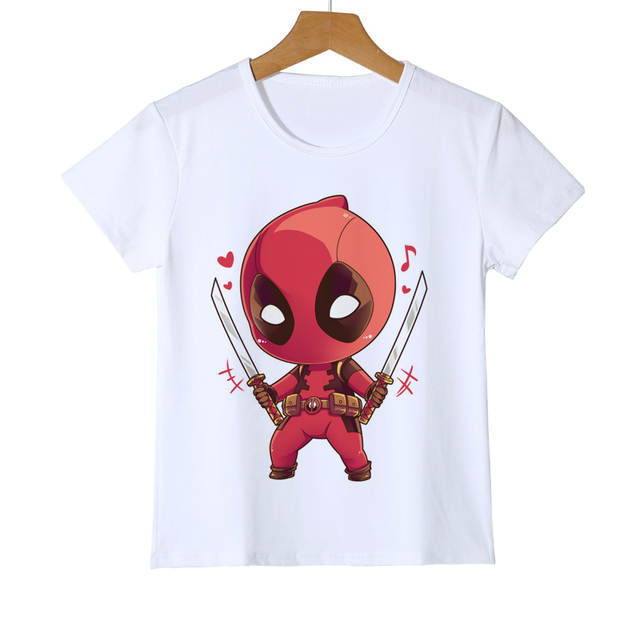 57c88887e73 Online Shop Funny hand drawn Children Deadpool Cartoon T shirt Kids  pokemon Spiderman Minions One Punch Man Baby Girls Boys Clothes Y11-11