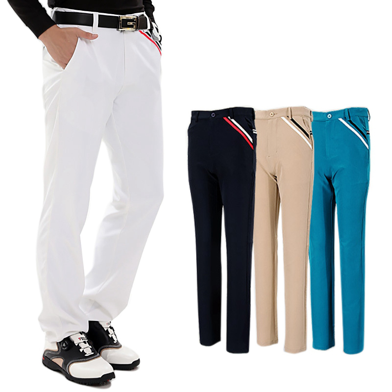 цена на PGM Golf Pants Men High Elastic Men's Trousers Slim Sports Summer Thin Pants Brand Man Leisure Britches Quick Dry Size XXS-3XL
