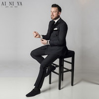 New Designer Wedding Groom Tuxedo Dinner Suit Jacket Blazer Trouser Two Piece Men Formal Suits