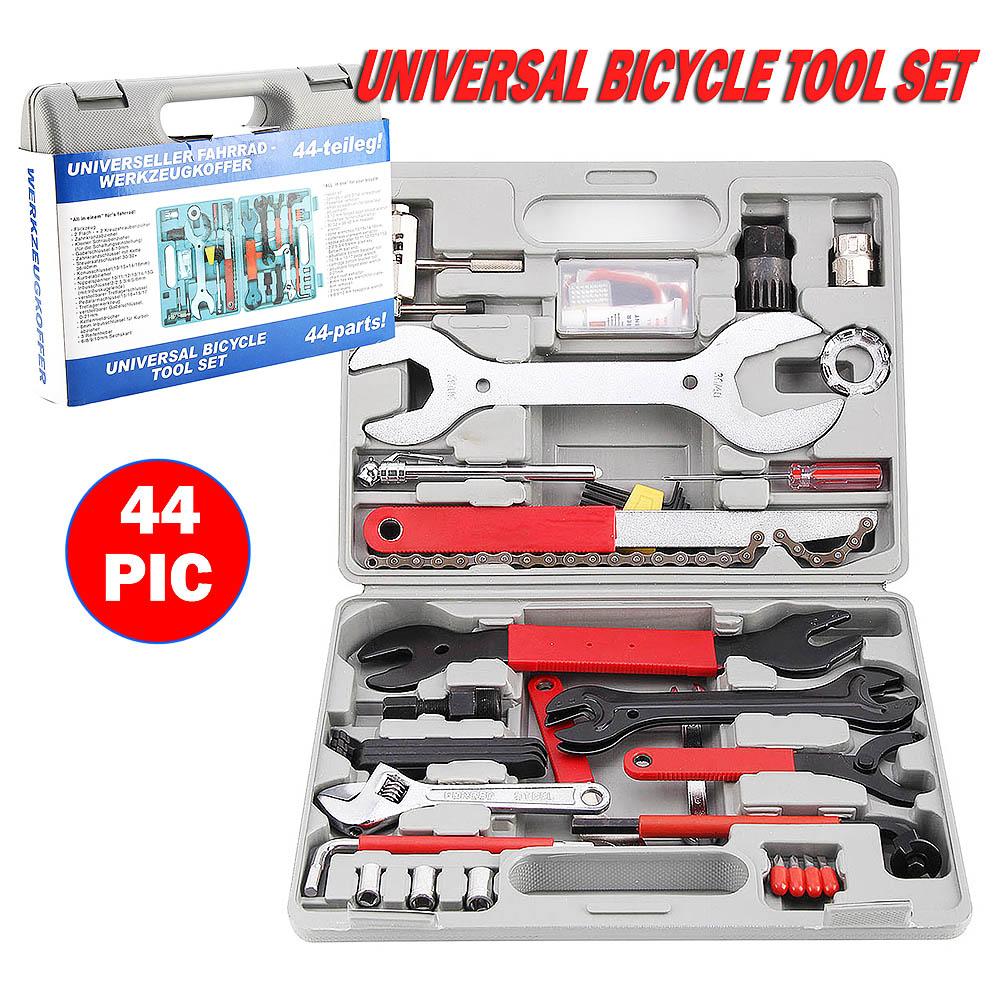 44Pcs Bike Bicycle Maintenance Repair Hand Wrench BB Crank Tool Kit Set & Case 44pc set bike cycling bicycle maintenance repair hand wrench tool kit set box case