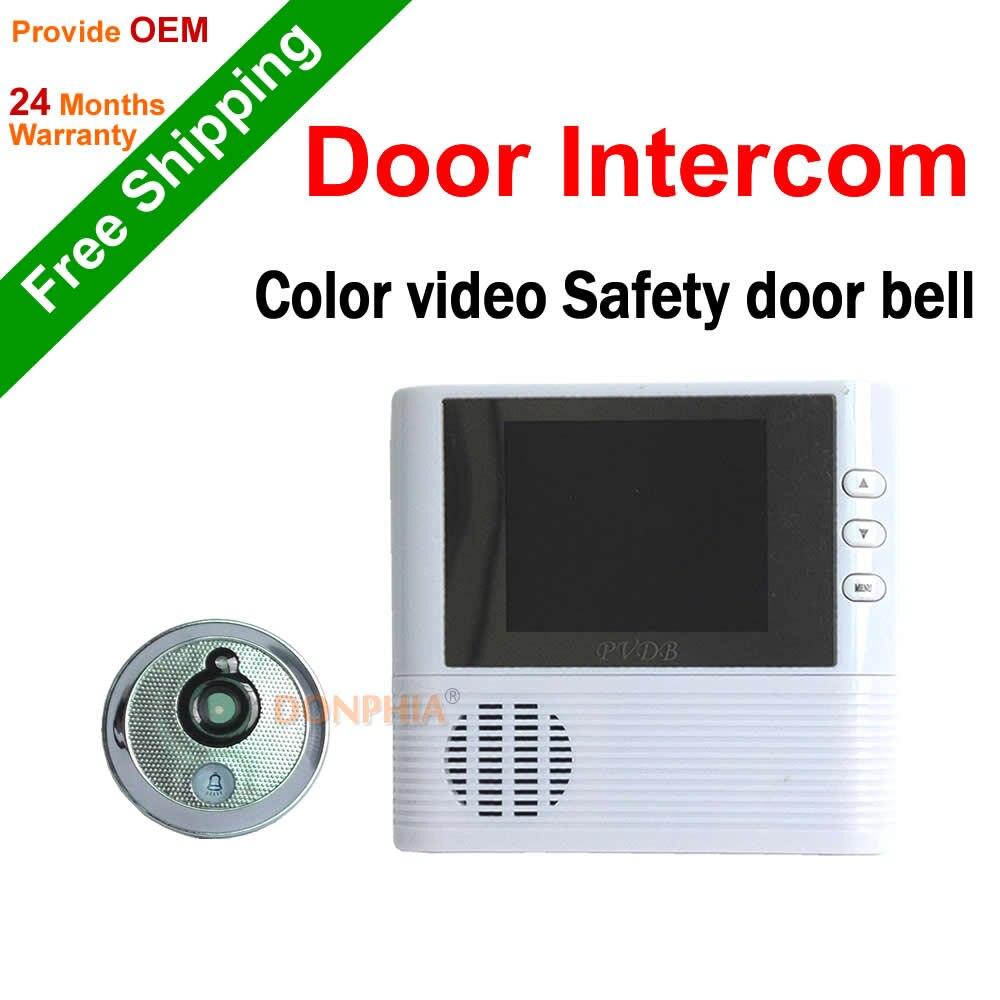 imágenes para Envío de la NUEVA 2.8 ''pulgadas de color de vídeo timbre de la puerta electrónica Home Video Intercom Sistema de teléfono de La Puerta con la visión nocturna alarma