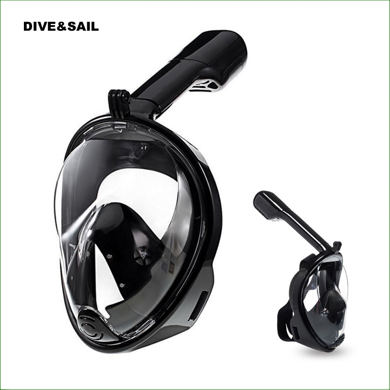 DMK01 Anti Fog Full Face Snorkeling Mask Swimming Training Scuba Diving Mask Free Breath Dive Gear Tube For Gopro Camera pyramex venture gear pagosa sw518t anti fog