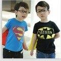 Детские мальчики девочки супергероя Футболка Tee Дети 3D мультфильм с коротким рукавом футболки Топы с мыса хлопок бесплатная доставка C915