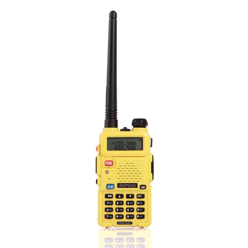 2 шт. baofeng уф-5r Walkie Talkie рации 128 Dual Band UHF& VHF 136-174 МГц и 400-520 МГц Baofeng УФ-5R портативна Рация 5 Вт Двухстороннее радио для рации рация баофенг uv-5r - Цвет: 2xUV5R Yellow