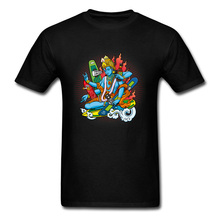Fashion Boarding Vishnu Design T-shirts O Neck 100% Cotton Men Tops Shirt Well Chosen Christmas Gift T