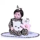 Nicery 20 22 pouces 50 55 cm Bebe Reborn poupée souple Silicone garçon fille jouet Reborn bébé poupée cadeau pour enfants rose chat poupée - 4