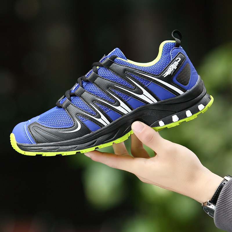 2017 Style Running Shoes For Men Outdoor Sneakers Mesh Breathable TPR Soles Athletic Trainer Workout Hard Court Sport Shoes men kelme 2016 new children sport running shoes football boots synthetic leather broken nail kids skid wearable shoes breathable 49