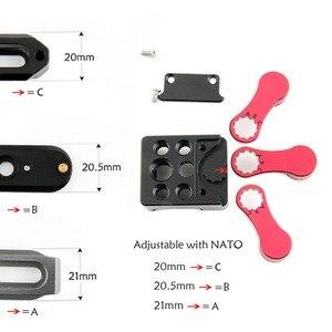 "Image 3 - NICEYRIG กล้อง Rig Cage 1/4 ""3/8"" สกรู fix 20 21 มม. NATO Rail Clamp/รองเท้าเย็น mount สำหรับไมโครโฟน Flash Light Stand"