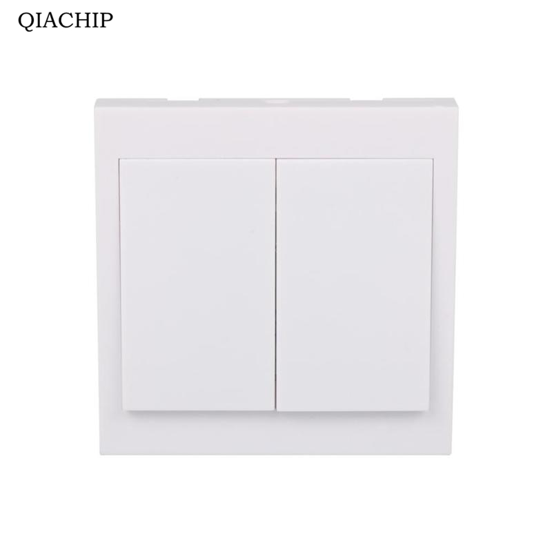 Wall Panel Remote Transmitter 2 Button Sticky Smart Home Room Hall Living Room Bedroom Wireless Switch Control 433mhz Z1 qiachip 433mhz 86 wall switch 2 button remote control switch wireless transmitter switch room for smart home lamp light led bulb