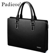 Padieoe мужской портфель из натуральной кожи мужская Сумка для документов ts кожаная мужская сумка на плечо Мужская коровья кожа деловая сумка-мессенджер